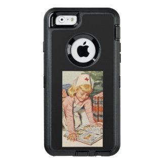 Girl playing Nurse - Retro OtterBox Defender iPhone Case