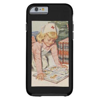 Girl playing Nurse - Retro Tough iPhone 6 Case