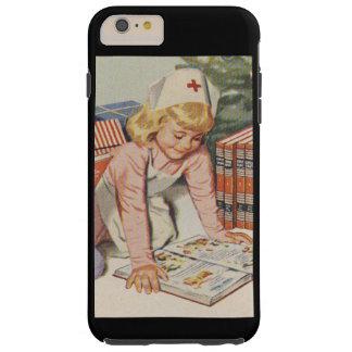Girl playing Nurse - Retro Tough iPhone 6 Plus Case