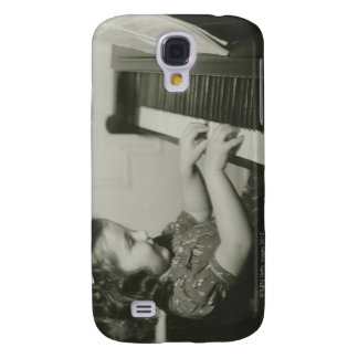 Girl Playing Piano Samsung Galaxy S4 Cases