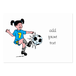 Girl Playing Soccer Business Cards