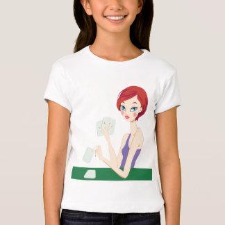 Girl playing Texas Holdem T-Shirt