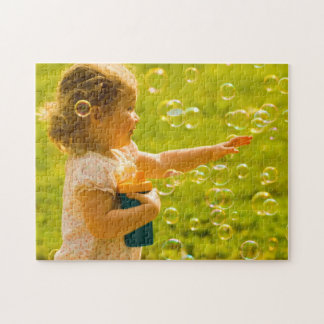 Girl Playing with Bubbles Puzzle
