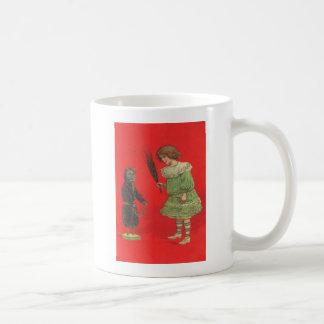 Girl Playing With Krampus Doll Coffee Mug