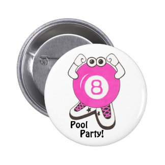 Girl Pool Partier Button