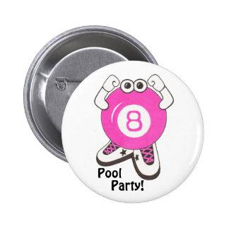 Girl Pool Partier Button