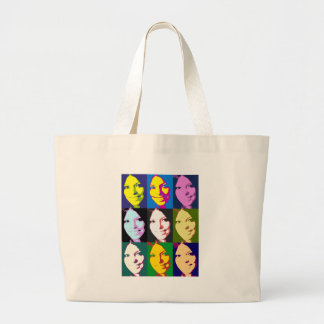 girl-popart large tote bag