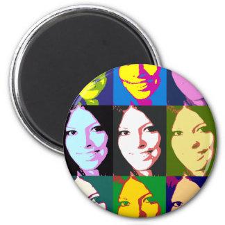 girl-popart refrigerator magnets