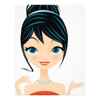 girl portrait flyer