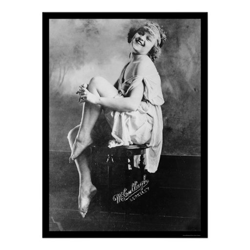 Girl Posing and Laughing 1919 Posters