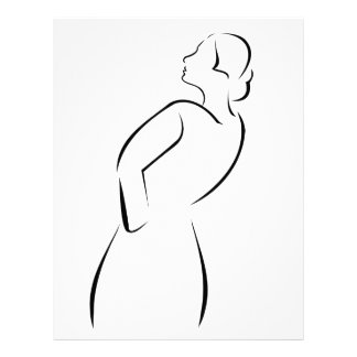 Girl posing in fashionable outfit letterhead