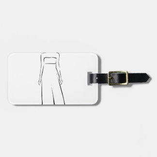 Girl posing in fashionable outfit luggage tag