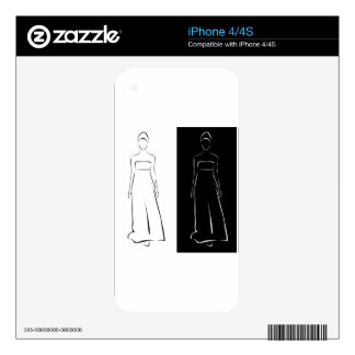 Girl posing in fashionable outfit skins for the iPhone 4