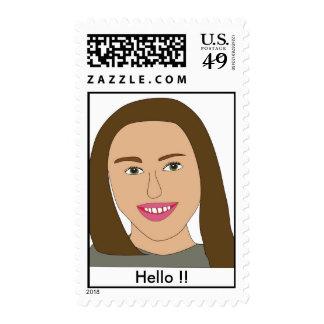 Girl Postage Stamp