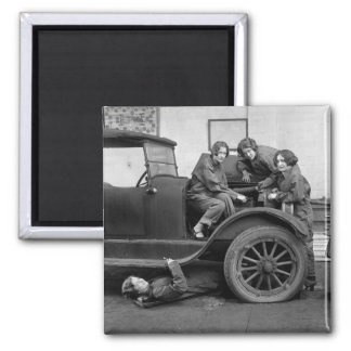 Girl Power: 1927 2 Inch Square Magnet