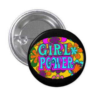 girl power 1 inch round button