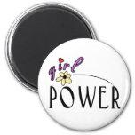 Girl Power 2 Inch Round Magnet