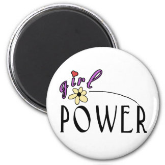 Girl Power 2 Inch Round Magnet