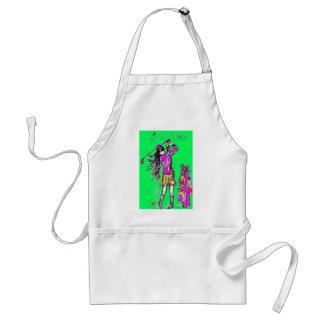 girl power adult apron