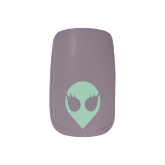Girl Power Alien Nail Decals