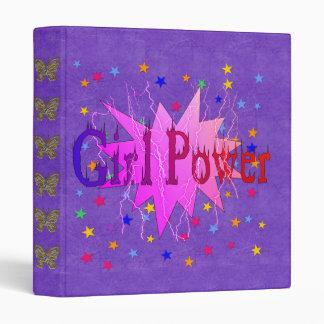 Girl Power 3 Ring Binder