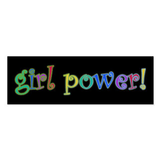 girl power bookmark business cards