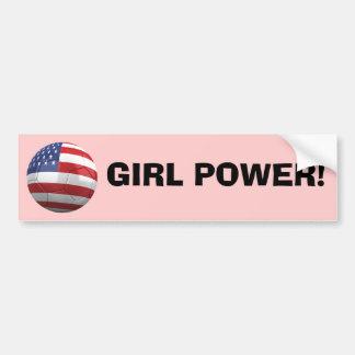 GIRL POWER! BUMPER STICKER
