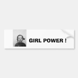 GIRL POWER ! BUMPER STICKER