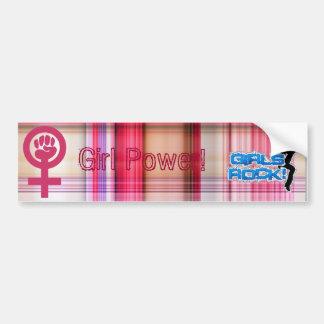 Girl Power! Car Bumper Sticker