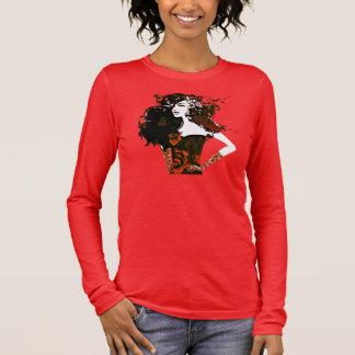 girl power_burnt orange long sleeve T-Shirt
