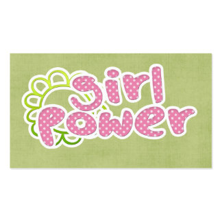 Girl Power! Double-Sided Standard Business Cards (Pack Of 100)