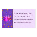 Girl Power Double-Sided Standard Business Cards (Pack Of 100)