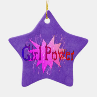 Girl Power Ceramic Ornament
