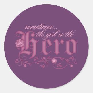 Girl Power Classic Round Sticker