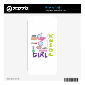 Girl Power Decals For The iPhone 4