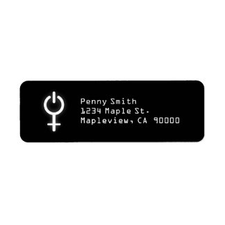 Girl Power Electronic Symbol for Gamer Female Sign Label