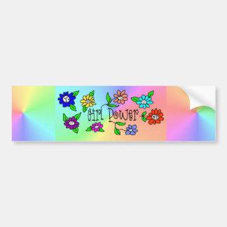 Girl Power Gradient Colored Bumper Sticker