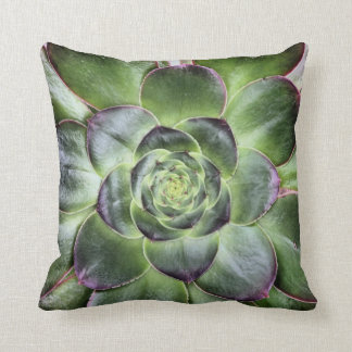 Girl Power Green Leaves Pillow