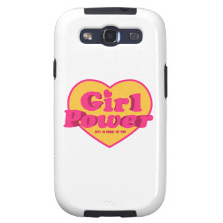 Girl Power Heart Shaped Typographic Design Quote Samsung Galaxy S3 Cases