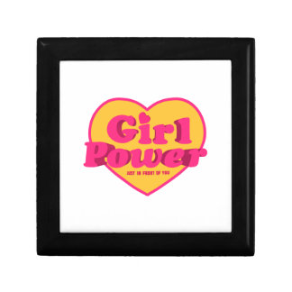 Girl Power Heart Shaped Typographic Design Quote Trinket Boxes