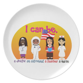 Girl power ( I can be) plates