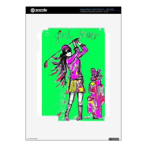 girl power iPad 3 skins
