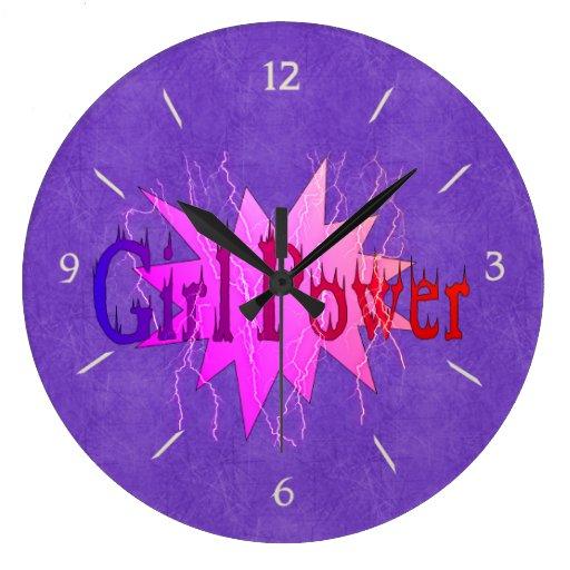 Girl Power Large Clock