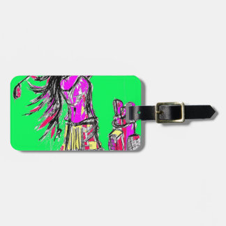 girl power tags for luggage