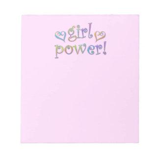 girl power scratch pads