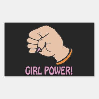 Girl Power Rectangular Sticker