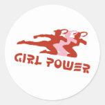 Girl Power Round Stickers