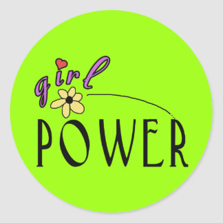 Girl Power Tees and Gifts - Customizable! Classic Round Sticker
