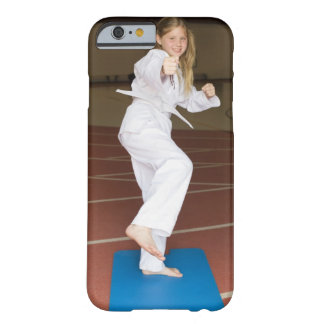 Girl practicing karate barely there iPhone 6 case