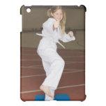 Girl practicing karate iPad mini case